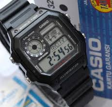 Jam Tangan Casio Karet jam tangan casio original ae 1200w hitam tali karet