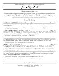 culinary resume samples resume with objective and summary example