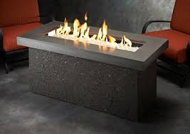 napa valley crystal fire pit table outdoor fire pits and fire bowls rectangle outdoor living by