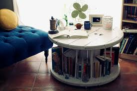 diy library table u2013 from an old spool