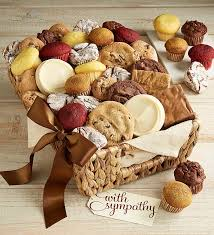 sympathy food baskets sympathy snack gift basket