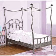 modern twin size metal bed frame canopy durable twin size metal