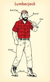 lumberjack costume how to use one flannel shirt for 7 costumes