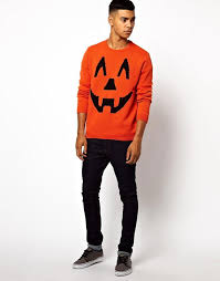 asos asos halloween pumpkin jumper