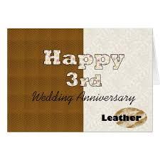 3rd wedding anniversary happy 3rd wedding anniversary card zazzle