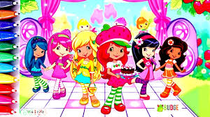strawberry shortcake and friends coloring pages fun art for kids