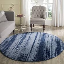 light blue round area rug safavieh retro collection ret26936065 modern abstract light blue and