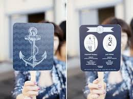 Nautical Wedding Programs Nautical Wedding Inspiration