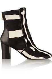 womens zebra boots balmain s amine zebra print calf hair ankle boots my color