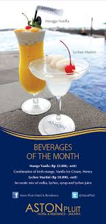 beverages of the month aston pluit hotel jakarta by janrico on