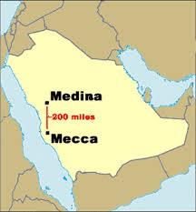 middle east map medina the rise of islam mrdowling