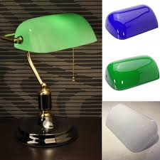 green glass shade bankers l glass banker l shade cover cased replacement lshade 9 x 5 1 4