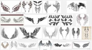 collection of 25 wing tattoo