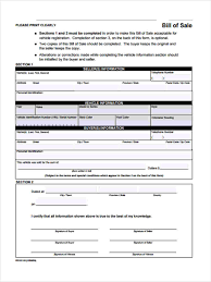 Sample Of Car Bill Of Sale by 6 Vehicle Bill Of Sale Form Samples Free Sample Example Format