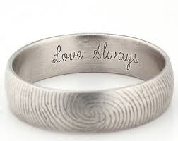 wedding band engravings custom inner fingerprint ring sterling silver engraving