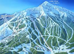 Maps Montana by Moonlight Basin Mountain Montana James Niehues Map Artist
