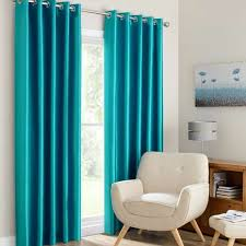 Teal Curtains Montana Teal Lined Eyelet Curtains Dunelm