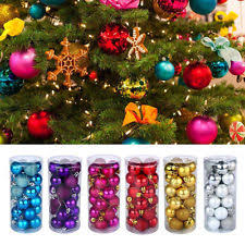 Glitter Christmas Ball Ornaments by Christmas Ornaments Ebay