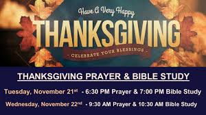 thanksgiving tuesday evening prayer bible study st s church