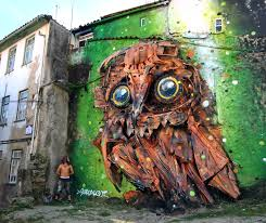 Street Art Street Artist Turns Trash Into Incredible Wild Animal Sculptures