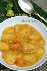 cuisiner le fruit de l arbre à le migan de fruit à typique de la cuisine créole