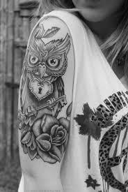 Tattoo Girl Owl | owl tattoos for girls tattoo owl owl tattoo black and white girl