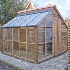 serre horticole en verre serre de jardin et abri en cèdre 5 panneaux serre jardin