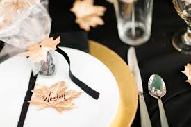 Halloween Wedding Favors Halloween Wedding Inspiration U0027gilded Autumn U0027 In Black U0026 Gold