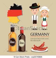 vector illustration of german culture design german culture
