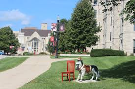 Touring northern illinois university red chair travels