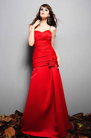 buy tailor made mermaid taffeta spaghetti straps red long wedding