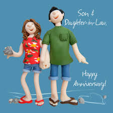 Anniversary Wishes To Daughter And Son U0026 Daughter In Law Anniversary Greeting Card One Lump Or Two