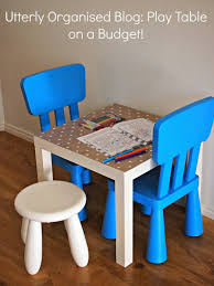 utterly organised a children u0027s play table on a budget