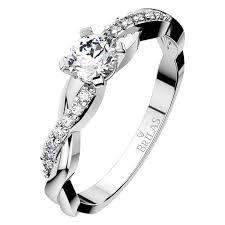 zasnubni prsteny luciana white vznešený zásnubní prsten v bílém zlatě brilas