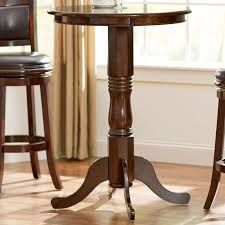 Turned Pedestal Bistro Table Andover Mills Knox Pub Table U0026 Reviews Wayfair