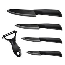 set of kitchen knives ankway ceramic kitchen knife set of 4 cutlery knives and 1 peeler