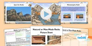 science rocks types of rocks year 3 lesson pack 1