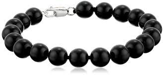 onyx beads bracelet images Sterling silver 8mm black onyx bracelet 7 5 quot strand jpg
