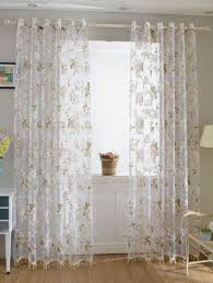 flower sheer fabric tulle curtain with beads pendant pink cm in