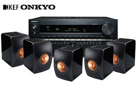 dolby atmos home theater system kef ls50 speaker and onkyo tx nr3010 9 2 channel network receiver