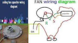 ceiling fan connection and winding capacitor checking