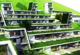 Green Roofed Hillside Homes Blend Into Their Environs Inhabitat - Sustainable apartment design