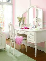 furniture elegant white vanity desk with mirror by smartstuff