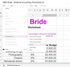 wedding budget the mba bride