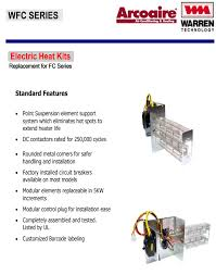 15 kw breakered heat strip for arcoaire air handlers fcv fcp fcx
