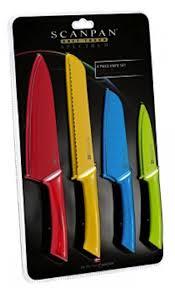 coloured kitchen knives scanpan spectrum 4 4pc knife set coloured free postage