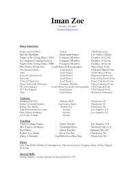 Ballet Resume Sample by Ballet Teacher Resume Free Resume Example And Writing Download