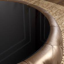 round leather coffee table abbyson living 42 havana round leather coffee table in brown