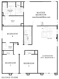 Beautiful 4 Bedroom House Plans St Andrews At Vistoso 2784 Model Upstairs
