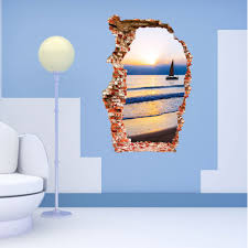 compare prices boat house decor online shopping buy low price sunset boating wall sticker bedroom poster house door quarto mural decals home decor